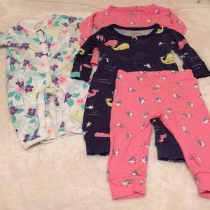Carter's 5 piece pajama lot